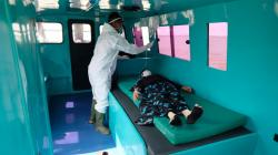 Gunakan Ambulans Laut, Suspect Corona Asal Meranti Dirujuk ke RSUD Kota Dumai