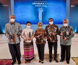 Bank BJB Raih Penghargaan Perusahaan Inspiratif Republika.co.id Award 2021