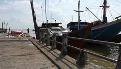 Turap Pelabuhan Camat Kembali Ambruk