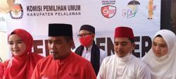 Zukri-Nasar, Paslon Pertama Daftar ke KPU Pelalawan