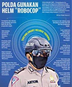Polda Riau Gunakan Helm