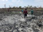 Polres Inhil Amankan Tersangka Pembakar Lahan