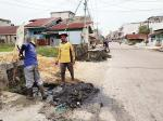 Drainase Jalan Jeruk Penuh Sampah