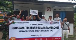 PT Ramajaya Pramukti  Berikan Bantuan Rumah