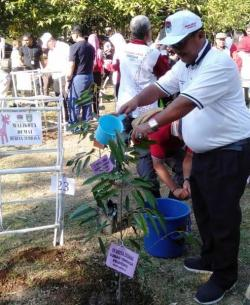 Pemko Dumai Tanam Pohon Durian Tembaga saat Apeksi di Semarang