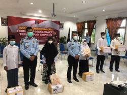 Imigrasi dan Rutan Siak Bagikan 108 Paket Sembako