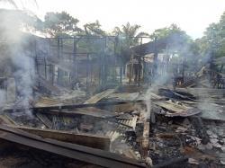 Tragis, di Inhu Rumah Terbakar Akibat BBM, Pemilik Tewas