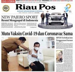 Positif Covid di Riau Turun Drastis, Kasus Aktif Menyisakan 897 Pasien