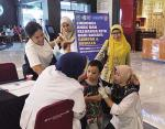 59 Anak Divaksin MR di Lima Mal