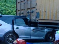 Mengenaskan, Kecelakaan di Tol Permai, Ibu dan Bayi Meninggal di TKP