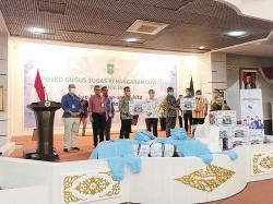 Satgas BUMN Riau Serahkan 200 APD