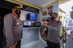 Kapolresta Pekanbaru Luncurkan Aplikasi Presisi di Mapolsek Tampan