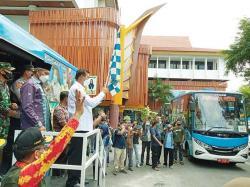 Lima Bus Keliling, Jangkau Warga Tak Terakses Vaksinasi