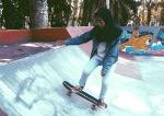 Perempuan Geluti Olahraga Skateboard