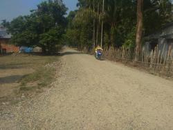 Tanpa Papan Proyek, Pembangunan Jalan di Desa Tanjung Timbulkan Kepulan Debu