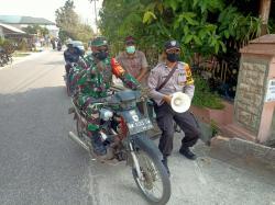 Keliling Naik Becak, Polisi dan TNI Sosialisasikan PSBB di Pekanbaru