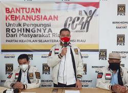 PKS Riau Kirim Relawan dan Bantuan Kemanusiaan untuk Pengungsi Rohingya