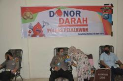 Polres Pelalawan Gelar Donor Darah Massal
