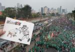 Ribuan Kepolisian Bersiaga Hadapi Demo di DPR