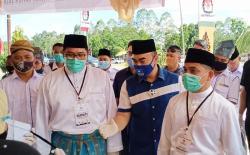 Abu Mansyu Al Matridi-Habibi Mendaftar ke KPU Pelalawan
