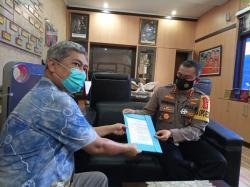 Kapolresta Ajak PWI Pokja Pekanbaru Lawan Hoaks Covid-19