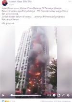 Gedung Isolasi Warga Terbakar