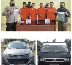 Juga Beraksi di Medan, Komplotan Pencuri Mobil Diringkus Polsek Pinggir
