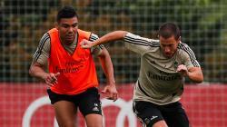 Jelang Lawan Valencia, Hazard dan Casemiro Positif Corona