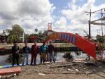 Gapura Taman Sungai Pabrik Dibangun Rp180 Juta, RTH di Rohil Ini Jadi Ikon Wisata Baru