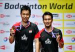 Juara Dunia Bulu Tangkis: ke-3 bagi Ahsan, Ke-4 bagi Hendra Ganda Putra Indonesia