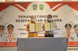 Pemprov Riau Jalin Kerja Sama Pembangunan Daerah dengan Pemprov Kepri