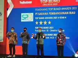 PT SPR Raih Top BUMD Award 2021