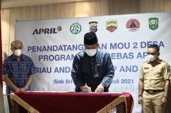 Bupati Siak dan PT RAPP Luncurkan Program Desa Bebas Api 2021