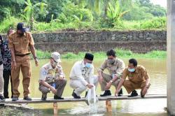 Catur Tabur 100 Ribu Benih Ikan di Desa Empat Balai