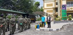Gedung Fakonsos UIN Suska Riau di Semprot Disinfektan