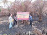 Terbakar, 5 Hektare  Lahan Disegel Polisi