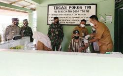 Vaksinasi Gratis Koramil 14 Kepenuhan Diserbu Masyarakat