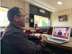Rektor Unilak Ikuti Webinar Bersama Presiden Jokowi dan Forum Rektor Indonesia