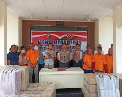 Polres Pelalawan Gelar Ekspos Penanganan Kasus Karhutla, Korupsi dan Penyelundupan