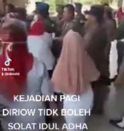 Video Viral Pelarangan Salat Iduladha di Riau, Gubri Syamsuar: Hoaks