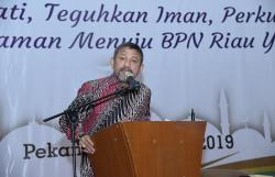 Kanwil BPN Riau Gelar Halalbihalal