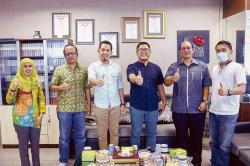 Jalin Silaturahmi, Diskominfo Kampar Kunjungi Riau Pos