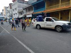 Komunitas dan Pemcam Bangko Gelar Penyemprotan Disinfektan