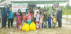 JKC Berbagi 500 Nasi Kotak dan Sembako kepada Panti Asuhan dan Sopir Taksi