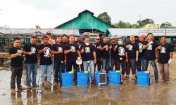 Komunitas Medsos Semprot Disinfektan di Kawasan Pasar di Pangean