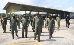 Kasau Tinjau Latma TNI AU-USPACAF ke Lanud Roesmin Nurjadin