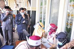 Wako Tinjau Rapid Test Imam Masjid Paripurna