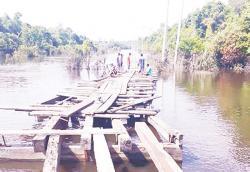 Jembatan Sungai Kapojan Segera Dibangun