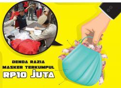 Denda Razia Masker Terkumpul Rp10 Juta