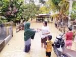 Sungai Meluap Rendam Rumah Warga